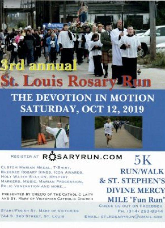 Rosary Run 2019 poster